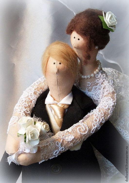 Куклы Тильды ручной работы. Ярмарка Мастеров - ручная работа. Купить Жених и невеста. Handmade. Белый, кукла ручной работы