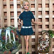 Одежда для кукол ручной работы. Ярмарка Мастеров - ручная работа Модное платье морской волны для кукол Барби. Handmade.
