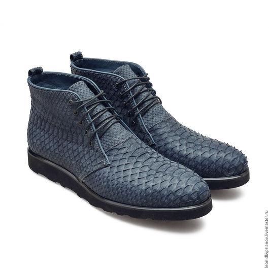 Обувь ручной работы. Ярмарка Мастеров - ручная работа. Купить Модель - Deserts Python. Handmade. Синий, аксессуар, туфли