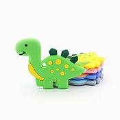 Фурнитура ручной работы. Ярмарка Мастеров - ручная работа Прорезыватель силиконовый динозаврик. Handmade.