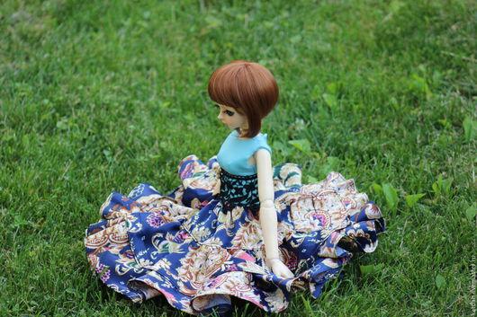 Одежда для кукол ручной работы. Ярмарка Мастеров - ручная работа. Купить Платье на MSD. Handmade. Комбинированный, атлас, хлопок