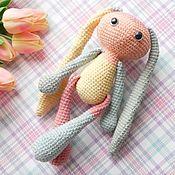 Куклы и игрушки handmade. Livemaster - original item Bunny-friend Knitted Color Block. Handmade.