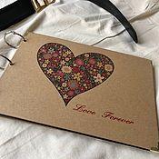 Канцелярские товары handmade. Livemaster - original item Photo album, Kraft. Handmade.