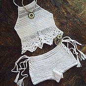 Одежда handmade. Livemaster - original item Summer white suit. Handmade.