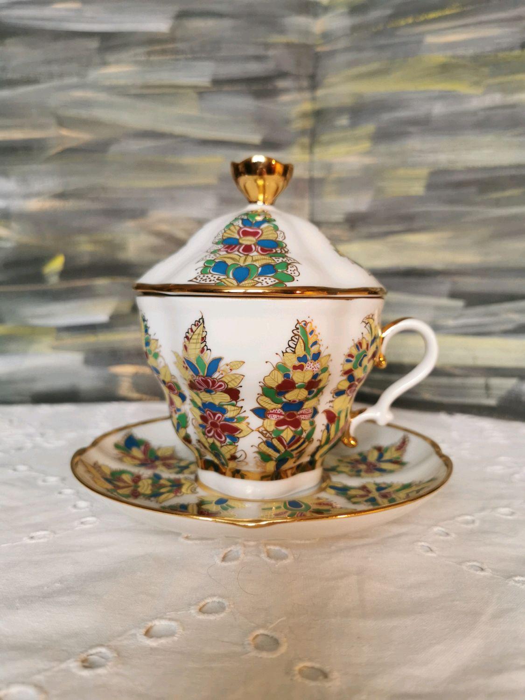 Фантастические цветы, чайная пара ЛФЗ, Чайные пары, Видное,  Фото №1