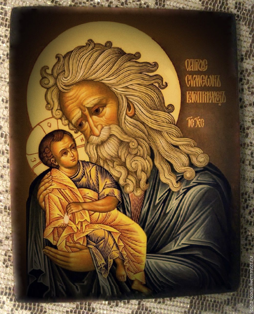 Hand painted icon, Saint Simeon the God-receiver, Icons, Acre,  Фото №1