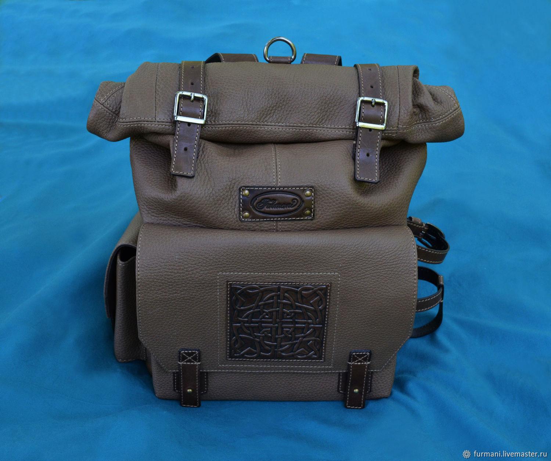 Рюкзаки ручной работы. Ярмарка Мастеров - ручная работа. Купить Рюкзак 'MILITARY' со скруткой (Рюкзак - скрутка). Handmade. Рюкзак