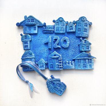 Для дома и интерьера ручной работы. Ярмарка Мастеров - ручная работа Цвет настроения синий. Handmade.