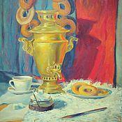 """Картины и панно ручной работы. Ярмарка Мастеров - ручная работа Картина маслом """"В уютном доме"""". Handmade."""