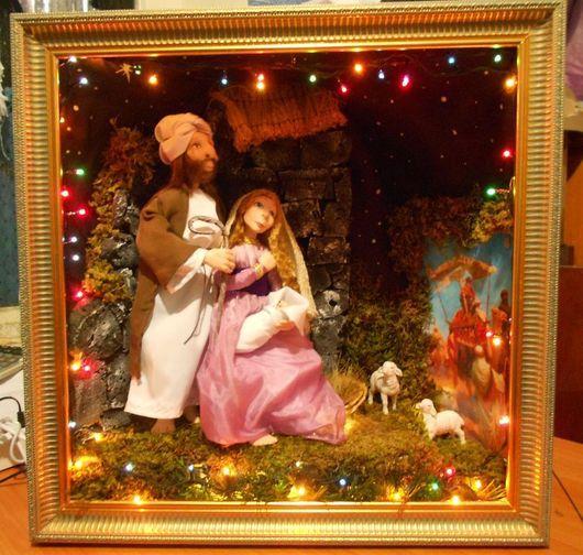 Новый год 2017 ручной работы. Ярмарка Мастеров - ручная работа. Купить Рождественский вертеп. Handmade. Рождество, Иисус Христос