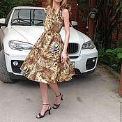 Одежда ручной работы. Ярмарка Мастеров - ручная работа Летнее платье из хлопка Леопард. Handmade.