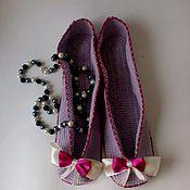 Обувь ручной работы. Ярмарка Мастеров - ручная работа Тапки -балетки-Милосердие-. Handmade.