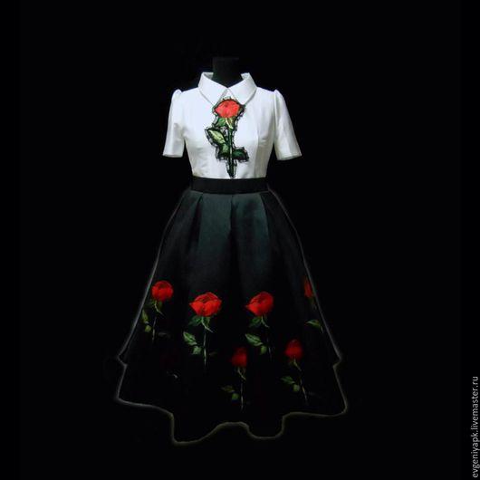 """Платья ручной работы. Ярмарка Мастеров - ручная работа. Купить Платье """"Стендаль"""". Handmade. Чёрно-белый, платье на день рождение"""