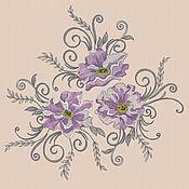 """Материалы для творчества handmade. Livemaster - original item Machine embroidery designs """"Big poppies"""" bt195. Handmade."""