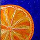 Часы для дома ручной работы. Часы-панно. Апельсиновое настроение.. Lyudmila Moskvichyova (LGolovan). Интернет-магазин Ярмарка Мастеров. панно