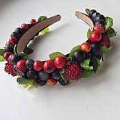 Украшения ручной работы. Ярмарка Мастеров - ручная работа Ободок с ягодами. Handmade.