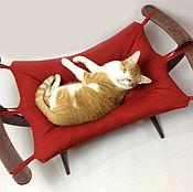 """Для домашних животных, ручной работы. Ярмарка Мастеров - ручная работа Гамак для кошек """"Красный"""". Handmade."""