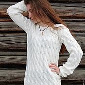 Одежда ручной работы. Ярмарка Мастеров - ручная работа Пуловер белоснежный.. Handmade.