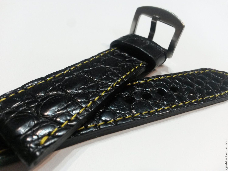 Ремень для часов из крокодила