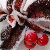 """Украшения ручной работы. Ярмарка Мастеров - ручная работа Колье из кожи """"Рождество"""". Handmade."""