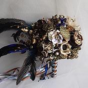 """Свадебный салон ручной работы. Ярмарка Мастеров - ручная работа """"Steampunk"""" свадебный брошь-букет. Handmade."""