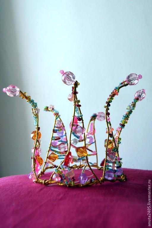 Диадемы, обручи ручной работы. Ярмарка Мастеров - ручная работа. Купить Корона для принцессы. Handmade. Украшения, корона для принцессы