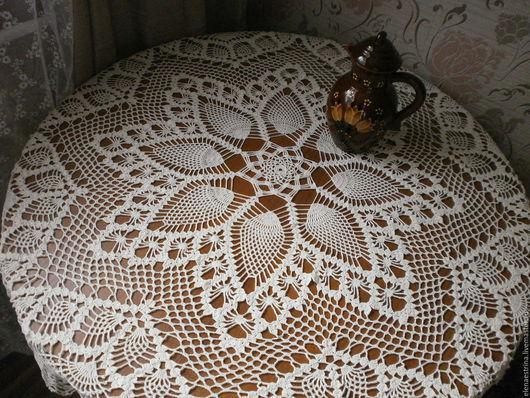 """Текстиль, ковры ручной работы. Ярмарка Мастеров - ручная работа. Купить Скатерть,120 см, """"Принцесса"""". Handmade. Салфетка крючком"""