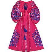 """Одежда handmade. Livemaster - original item Ярко-розовое платье """"Чудо-Дерево"""". Handmade."""