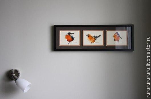 Животные ручной работы. Ярмарка Мастеров - ручная работа. Купить Птицы (акварель). Handmade. Рыжий, подарок на любой случай, акварель