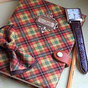 Канцелярские товары handmade. Livemaster - original item Notebook and butterfly cravat Gentleman`s kit. Handmade.