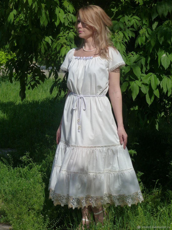 Платье Летнее бохо, хлопок, Платья, Екатеринбург,  Фото №1
