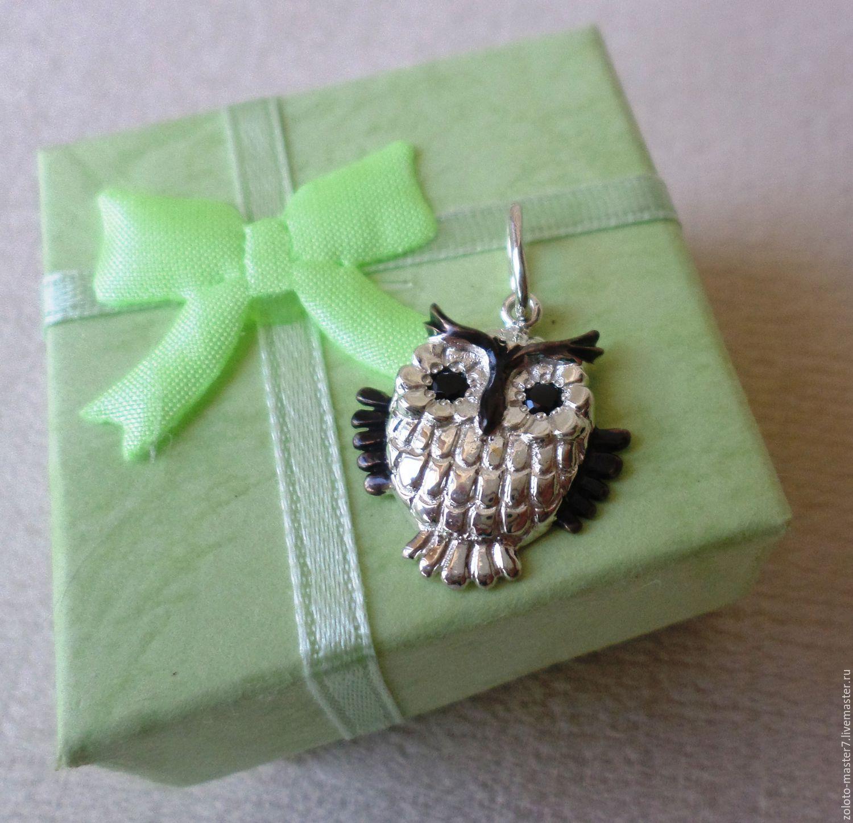 Pendant Owl 925 sterling Silver, Pendants, Chaikovsky,  Фото №1