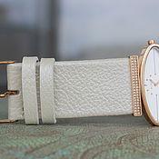 """Украшения ручной работы. Ярмарка Мастеров - ручная работа Ремешок на ваши часы """"Белый перламутровый"""". Handmade."""