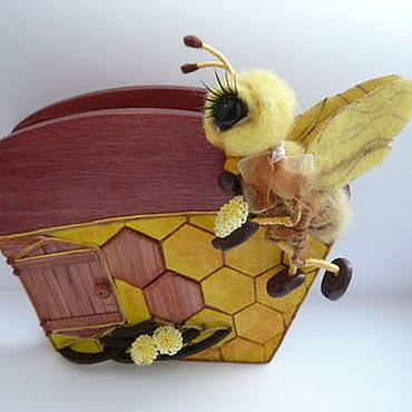 Для дома и интерьера ручной работы. Ярмарка Мастеров - ручная работа Салфетница с солнечной пчелкой. Handmade.
