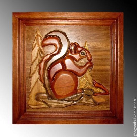 Животные ручной работы. Ярмарка Мастеров - ручная работа. Купить Картина из дерева. Интарсия. Handmade. Хаки, деревянная картина