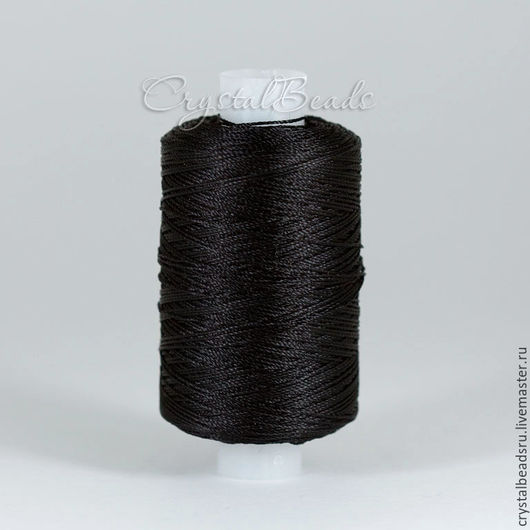 Лавсановые нитки 86л черные для плетения в технике фриволите и анкарс, для пошива сумок и кожгалантереи.
