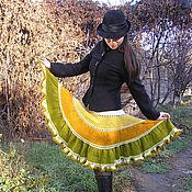 """Одежда ручной работы. Ярмарка Мастеров - ручная работа Теплая вязаная мохеровая юбка """"Солнце """". Handmade."""
