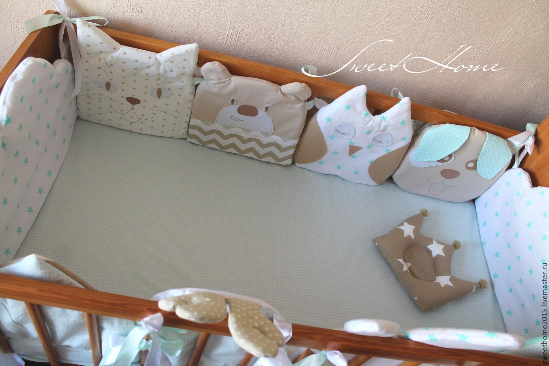 Бортики в детскую кроватку для новорожденных своими руками 38