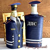 Сувениры и подарки handmade. Livemaster - original item The gift of a man, a traffic police officer for a Military man the Cover on the bottle. Handmade.