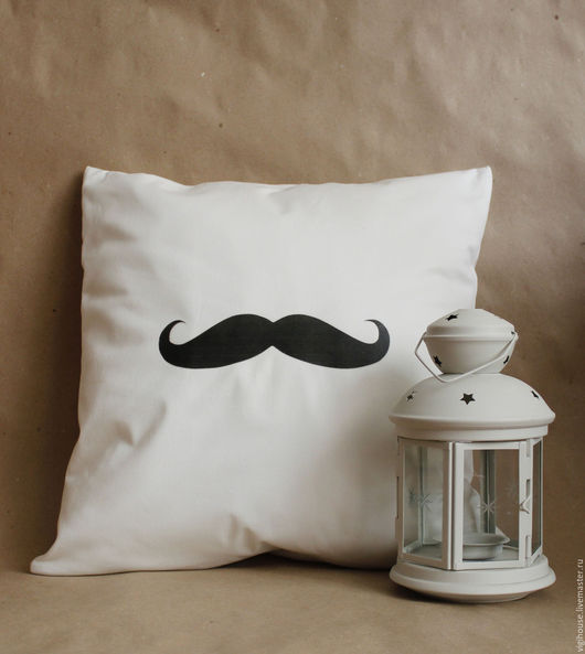 Детская ручной работы. Ярмарка Мастеров - ручная работа. Купить Подушка Важные Усы. Handmade. Подушка, подушка на диван