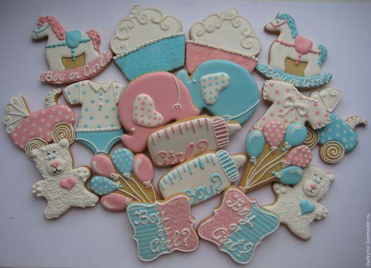Кулинарные сувениры ручной работы. Ярмарка Мастеров - ручная работа. Купить НОВИНКА ванильное печенье - сладкий стол на День Рождения бэби шауэр. Handmade.