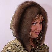 Аксессуары handmade. Livemaster - original item the hood with sable fur. Handmade.