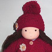"""Куклы и игрушки ручной работы. Ярмарка Мастеров - ручная работа Девочка-малышка """"Яркая брюнетка"""" вальдорфская 35 см. Handmade."""