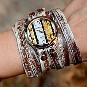 Часы наручные ручной работы. Ярмарка Мастеров - ручная работа Наручные часы - ручная роспись циферблата. Handmade.