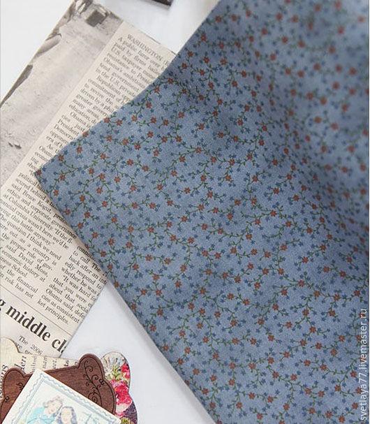 Шитье ручной работы. Ярмарка Мастеров - ручная работа. Купить Ткань хлопок. Корея.Мелкие цветочки.. Handmade. Ткань, хлопок