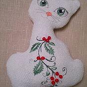 Куклы и игрушки ручной работы. Ярмарка Мастеров - ручная работа Вязаная кошка .. Handmade.