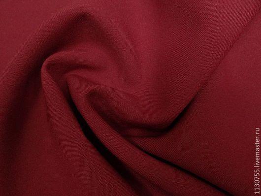 Шитье ручной работы. Ярмарка Мастеров - ручная работа. Купить Ткань габардин  бордо. Handmade. Бордовый, ткани для рукоделия