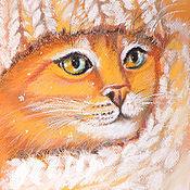Картины и панно ручной работы. Ярмарка Мастеров - ручная работа Теплый и уютный. Снег. Handmade.