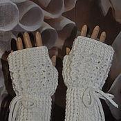 Аксессуары handmade. Livemaster - original item Hand-knitted mittens,oversize, half-wool.. Handmade.