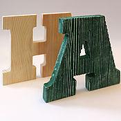 Для дома и интерьера handmade. Livemaster - original item interior design letters made of pine. Handmade.